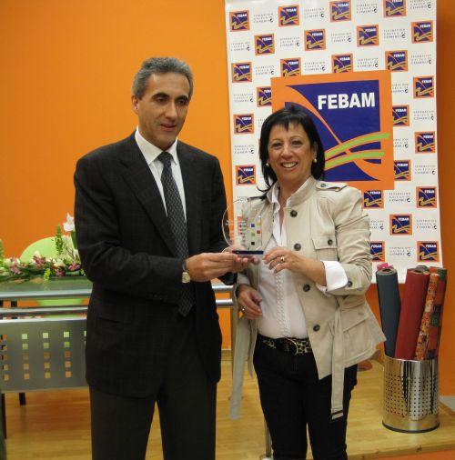 La Federación de Empresarios del Baixo Miño – FEBAM, recibe el premio de la   Feria de Autónomos de Galicia