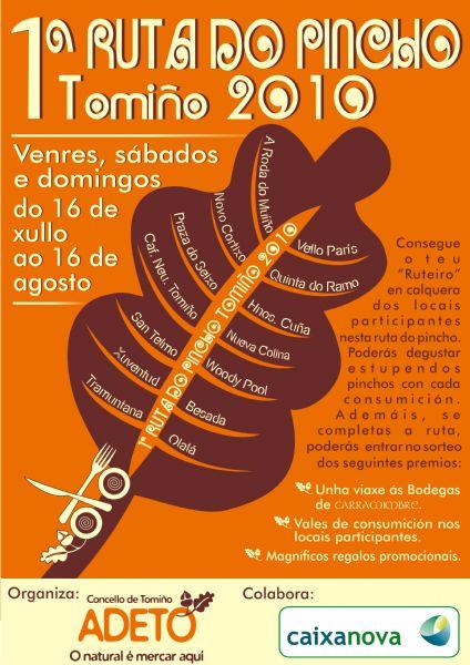 1ª RUTA DO PINCHO DE TOMIÑO 2010