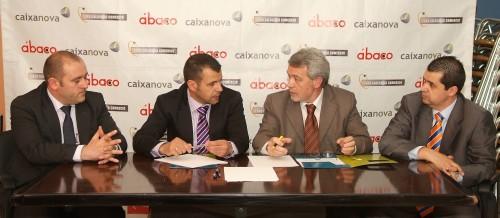 firma de convenio de colaboración entre ábaco y Caixanova